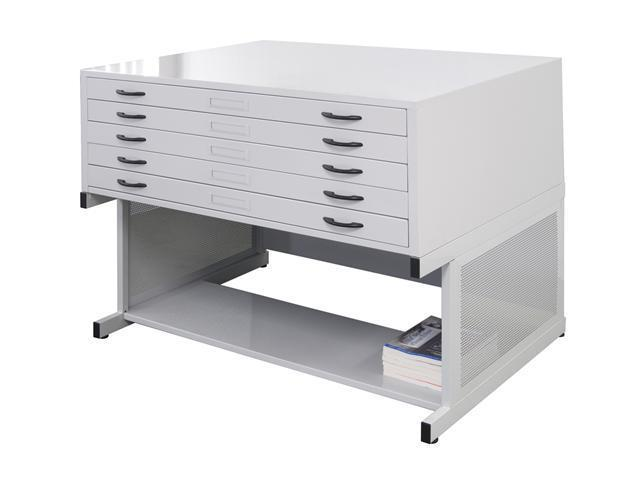 Flat File in Light Grey Finish by Studio Designs
