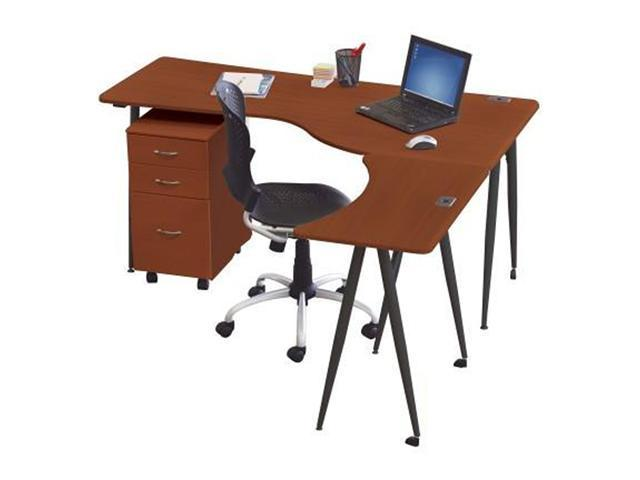 Balt Iflex Link/Printer Full Table - Cherry Top/Black Legs