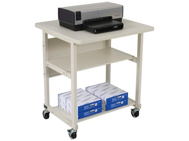 Heavy-Duty Mobile Laser Printer Stand Three-Shelf 27w x 25d x 27-1/2h Gray