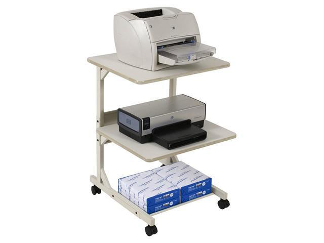 Dual Laser Printer Stand Three-Shelf 24w x 24d x 33h Gray