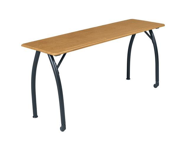 Balt Mentor Seminar Table 72 Oak Top/Black Leg