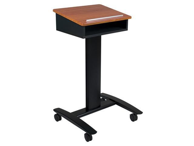 Balt Black/Cherry Presentation Lumina Podium Lectern With Locking Casters