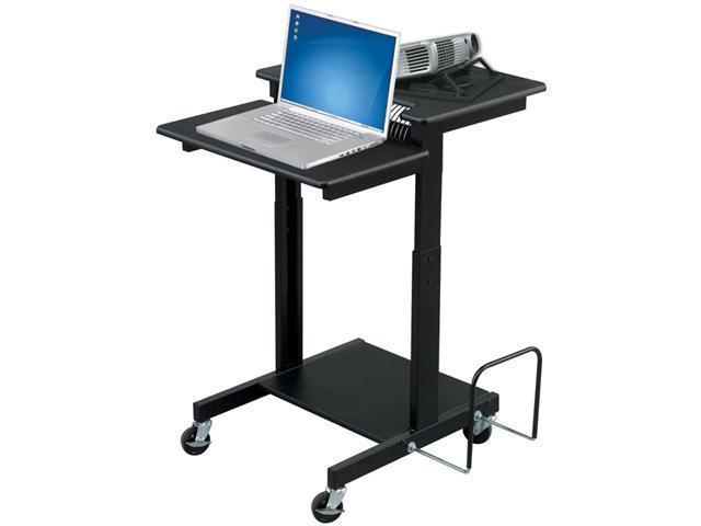 Web A/V Stand-Up Workstation 34w x 31d x 44-1/2h Black