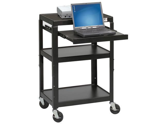 Balt Adjustable Laptop Cart - Black