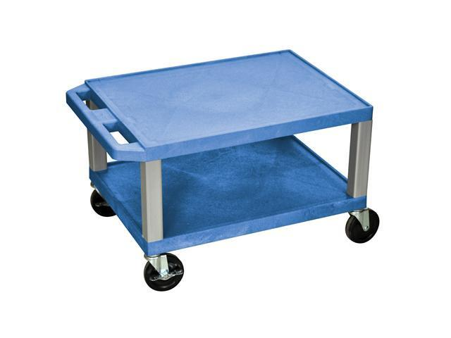 H.WILSON Rolling Mobile Self Utility Cart-Blue and Nickle