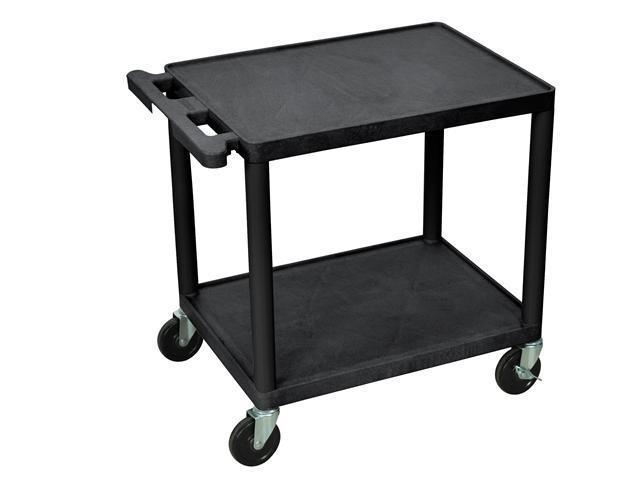 LUXOR 2` Shelf Presentation AV Cart - Black