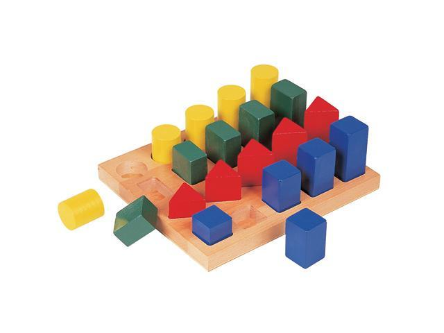 GuideCraft Colored Geo Forms Manipulative Plastic Block Set Kids Toys