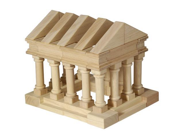 Guidecraft 40 Piece Table Top Building Construction Blocks Greek Architecture Child Motor Skills Toy Set Wood