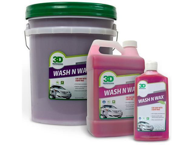 3D Wash N Wax - Car Soap With Liquid Wax