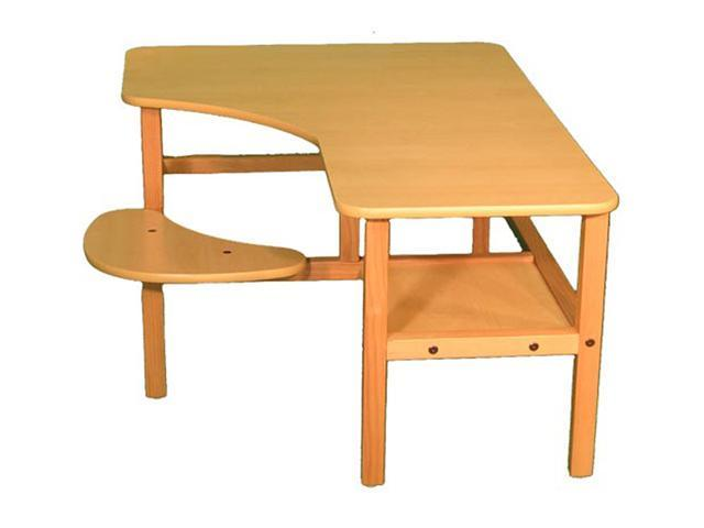 Wild Zoo Pre-School Computer Desk - maple / red