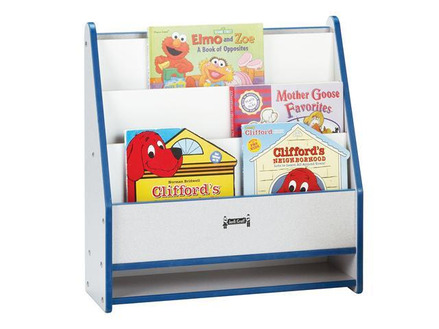 Jonti-craft Rainbow Accents Toddler Multipurpose Wooden 1 Sided Storage Cabinet Pick a Book Stand Organizer Orange