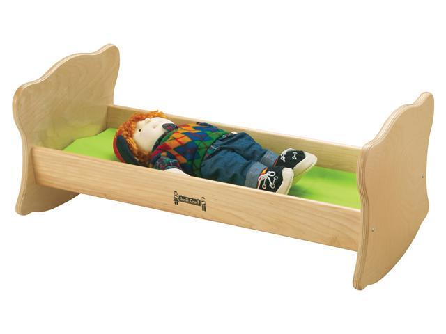 Jonti-Craft Kids Room Pretend Play Wooden Toy Little Doll Rocking Cradle Cot Bed Furniture