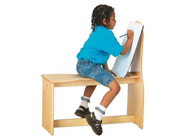 Jonti-Craft Kids Toddler Wooden Classroom Standard Art Horse Easel Activity Center