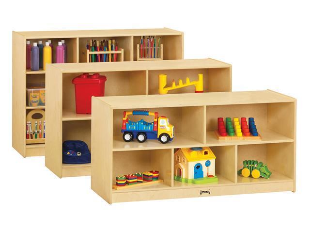 "Jonti-Craft Toddler Single Wooden Multiple Shelf Toy Storage Organizer Cubby Unit 18"" Deep"