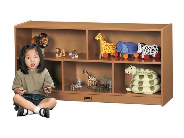 Jonti-Craft Sproutz Toddler Single Wooden Multiple Shelf Toy Storage Organizer Cubby Unit Caramel