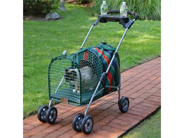Kitty Walk Original Pet Stroller-Stripe