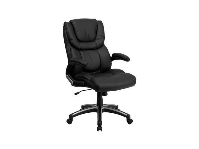 Flash Furniture High Back Adjustable Black Leather Contemporary Swivel Tilt Executive Office desk Computer Chair