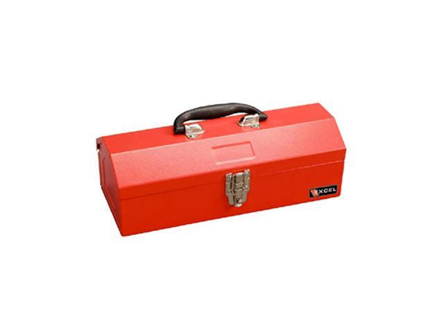 Excel Hardware Multipurpose Portable Metal Toolbox Red