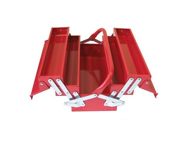 Excel Hardware 5tray Cantilever Portable Metal Toolbox Storage Kit Red