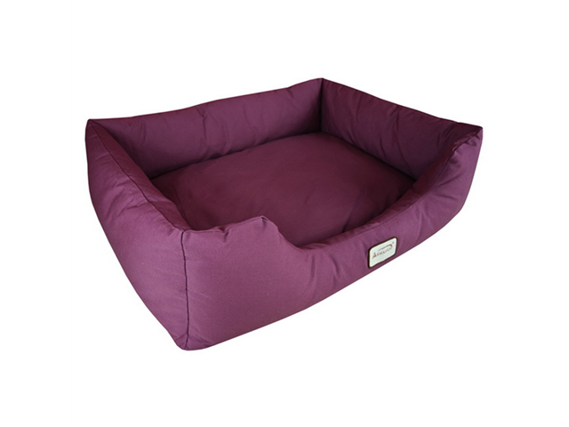 Armarkat Canvas With Waterproof Dog Sleeper Bed Extra Lage Burgundy
