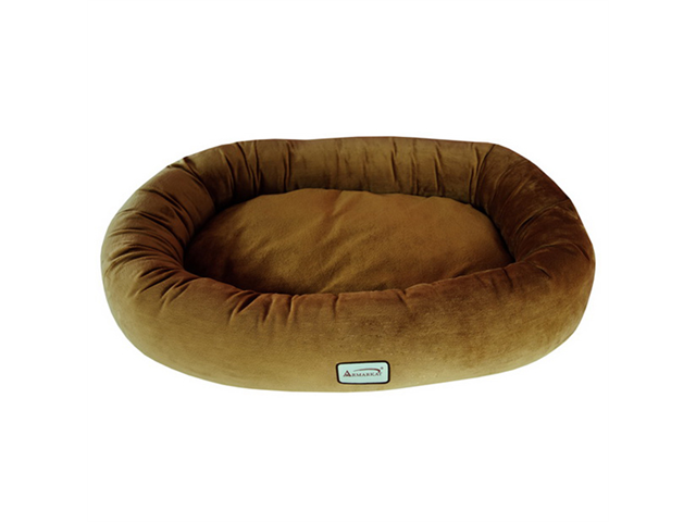 Armarkat Indoor Soft Velvet Comfortable Pet Dog Warm Cushion Sleeper Bed Small Brown