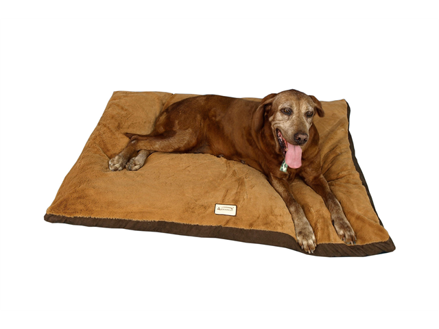 Armarkat Faux Suede and Plush With Waterproof Dog Sleeper Mat Large in Mocha and Brown
