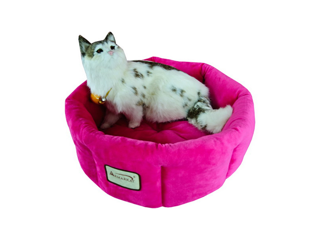 Armarkat Indoor Soft Velvet Comfortable Pet Cat Dog Kitty Warm Cushion Sleeper Bed Pink