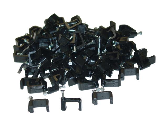 Cable Wholesale Cable-Clip Black RG6-Dual - 100 pieces per bag