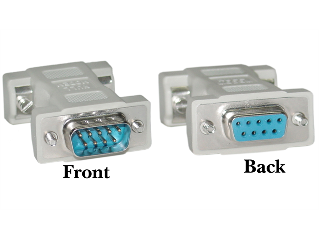 Cable Wholesale DB9 Male / DB9 Female Null Modem Adaptor / Mold