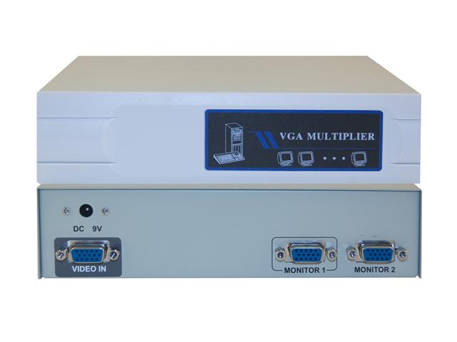 Cable Wholesale VGA Video Splitter 1 PC to 2 Monitors 400MHZ
