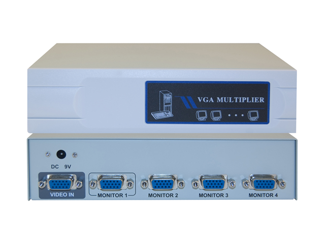 Cable Wholesale VGA Video Splitter 1 PC to 4 Monitors 400MHZ