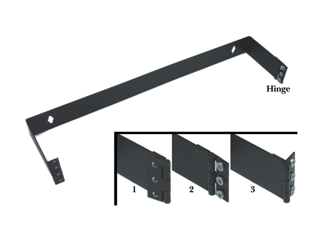 Cable Wholesale 1 Unit Patch Panel Hinged Wall Bracket
