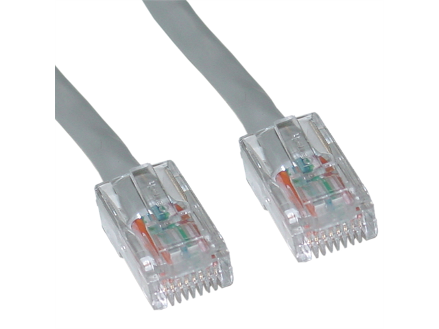 Cable Wholesale CAT6 Ethernet Patch Cable UTP Bootless Gray 50 ft