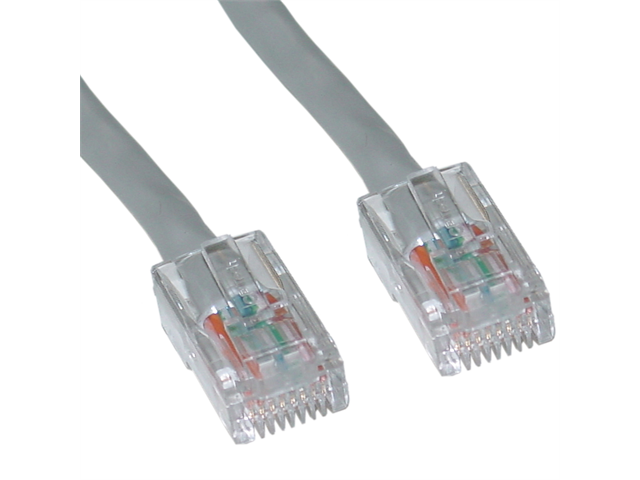 Cable Wholesale CAT6 Ethernet Patch Cable UTP Bootless Gray 100 ft