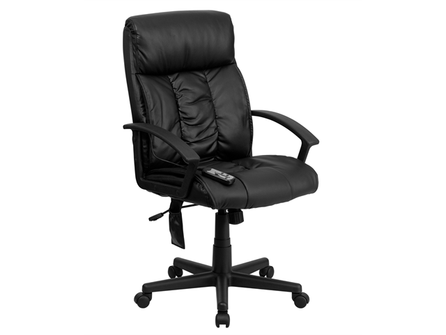 Flash Furniture High Back Massaging Black Leather Executive Office Chair [BT-9578P-GG]