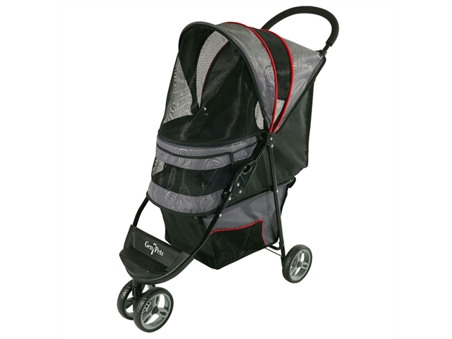 Gen7Pets Regal 3 Wheeled Foldable Pet Safety Outdoor Travel Stroller - Gray Shadow