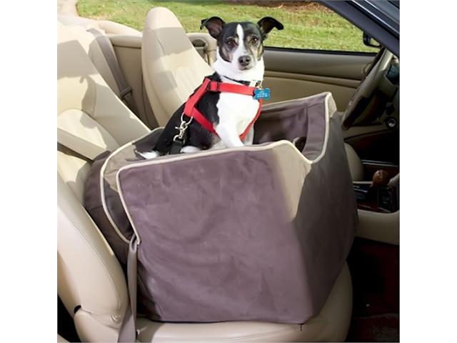 Snoozer Pet Dog Cat Puppy Outdoor Lookout I Car UV Secure Safety Travel Seat Medium Buckskin/Java