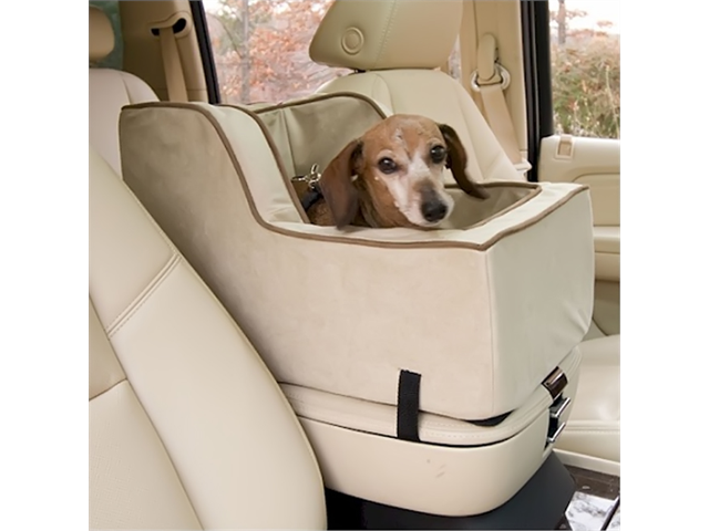 Snoozer Luxury Lookout Console Pet Gear Car Seat, High Back, Herringbone - Large, Color - Black