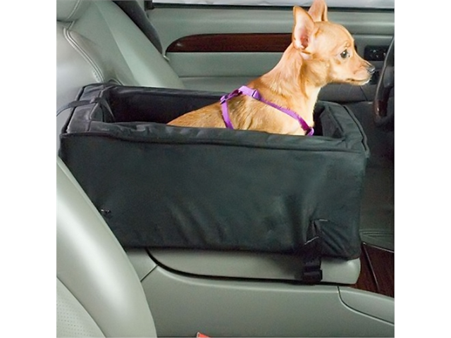 Snoozer Pet Dog Cat Puppy Outdoor Travel Comfortable Luxury Console SUV Car Safety Seat Small Anthracite/Black