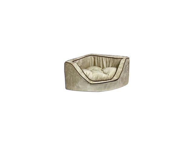 Snoozer Pet Dog Cat Puppy Indoor Comfortable Luxury Corner Sleeping Stuffed Soft Rest Bed Large Olive/Coffee