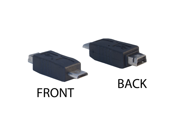 Cable Wholesale USB Mini-B 5pin Female to USB Micro B Male Adapter