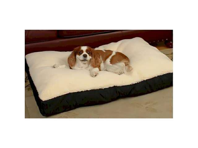 Snoozer Pet Dog Cat Puppy Soft Comfortable Durable Rectangle Sherpa Top Medium Sleeping Rest Bed Navy
