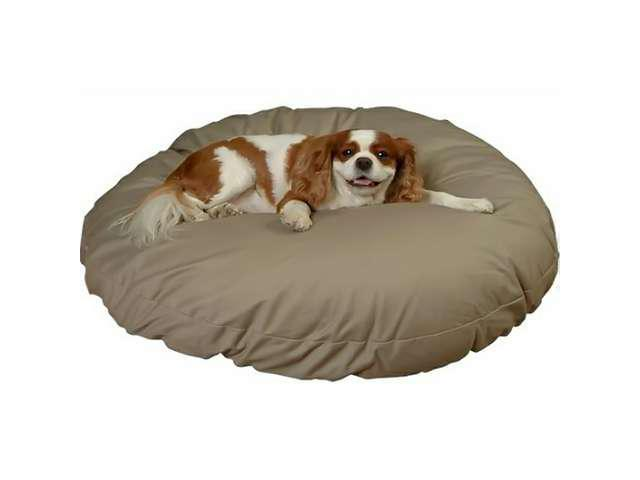 Snoozer Round Pillow Lounge Dog / Pet Bed With Polyester / Cedar Fill - Extra Large, Color - Olive