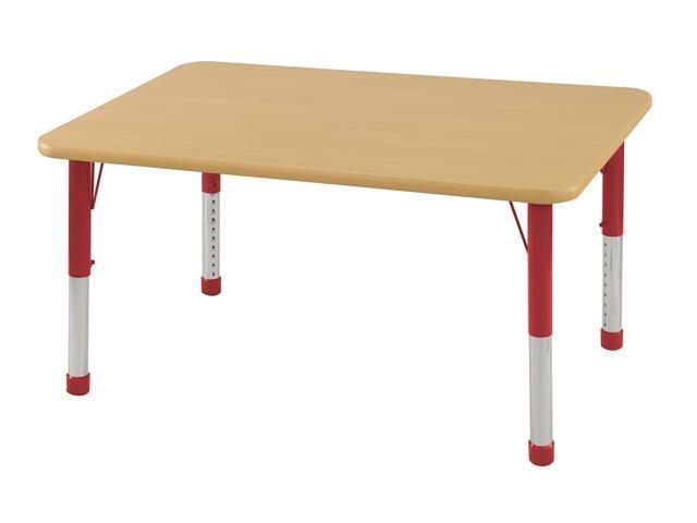 Kids Adjustable TRectangle Classroom Indoor Multi Activity Craft Table 30