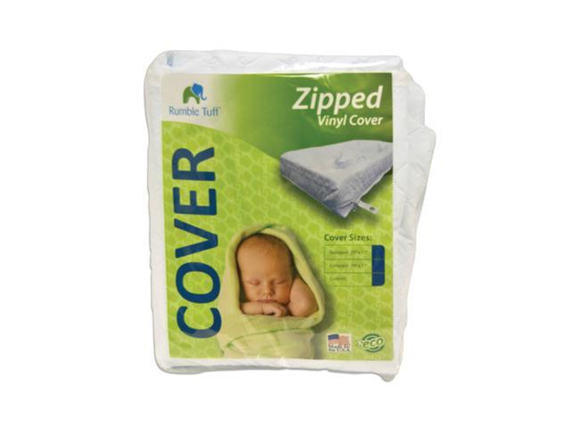 Rumble Tuff Home Travel Newborn Nursery Baby Infant Replacement Vinyl Cover For Zipped Changing Pad Compact White