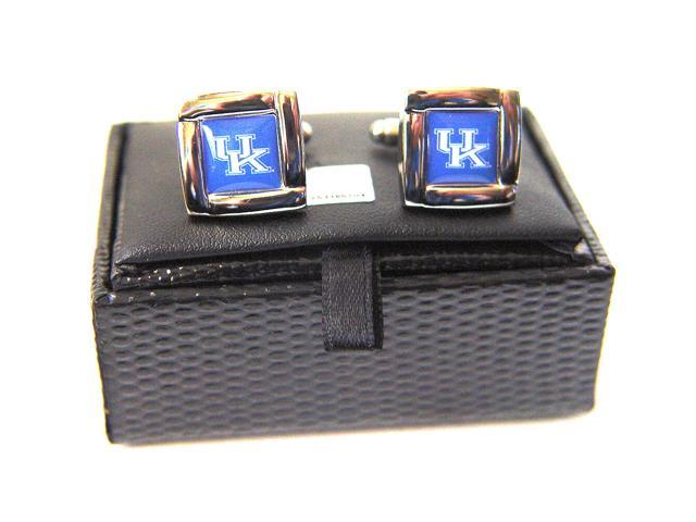 NCAA Kentucky Wildcats Square Cufflinks With Square Shape Engraved Logo Design Gift Box Set