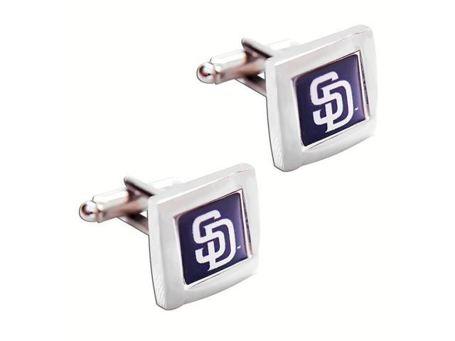 MLB San Diego Padres Square Cufflinks With Square Shape engraved Logo design Gift Box Set
