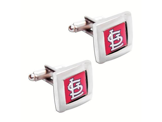 MLB St Louis Cardinals Square Cufflinks with Square Shape Logo Design Gift Box Set