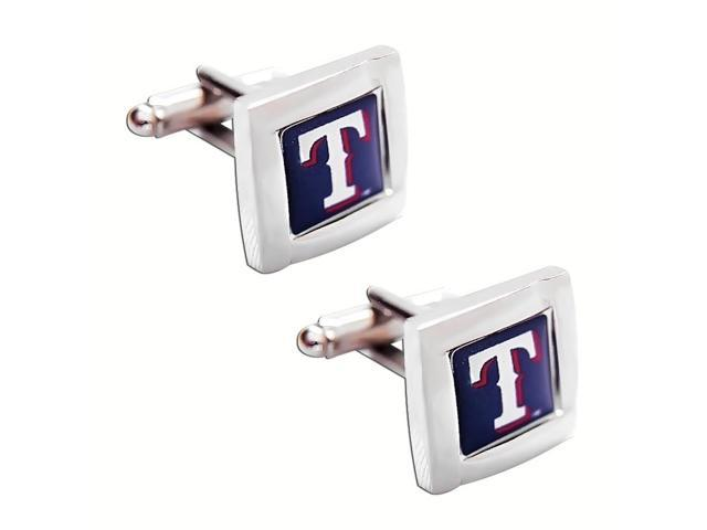 MLB Texas Rangers Square Cufflinks With Square Shape engraved Logo design Gift Box Set