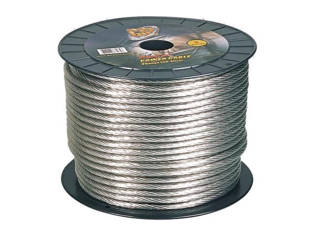 GSI 8 Gauge Power.Ground Cables 250 ft  Silver Color